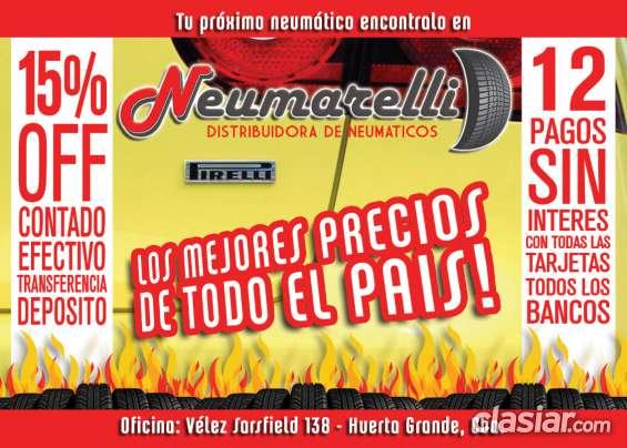 Venta de neumaticos en argentina el mejor precio! envios a todo el pais neumarelli