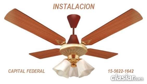 Instalador de ventilador de techo y luminarias