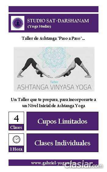 Taller de ashtanga yoga para principiantes (studio sat-darshanam)
