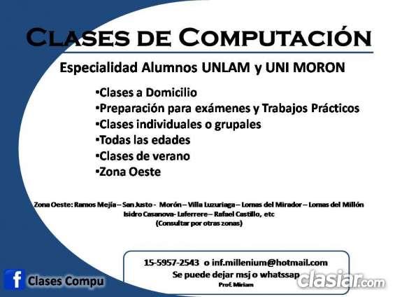 Clases particulares computacion alumnos unlam
