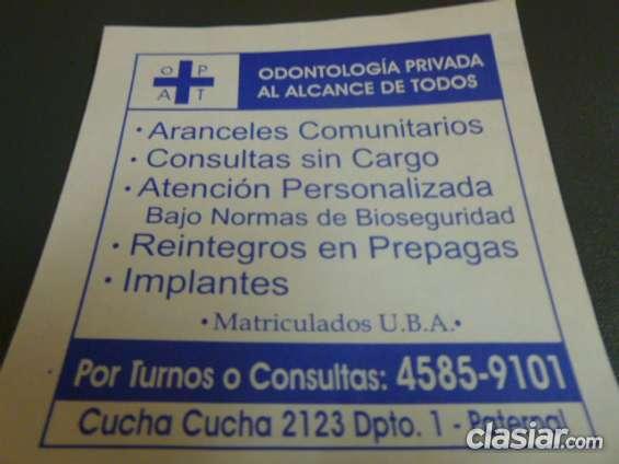 Consultorio dental privado odontologia ,odontologos paternal