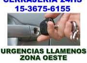 Cerrajeria automotor zna Moreno Llame 15 3675 6155