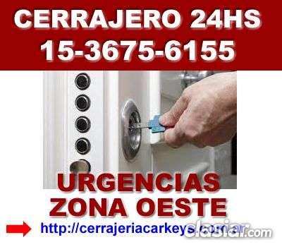 Cerrajero 24 hs en castelar llame 15-3675 6155