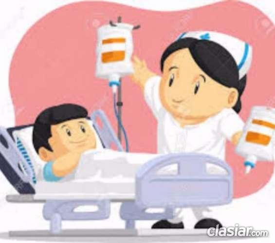 Acompaño enfermos en clínicas, sanatorios y hospitales
