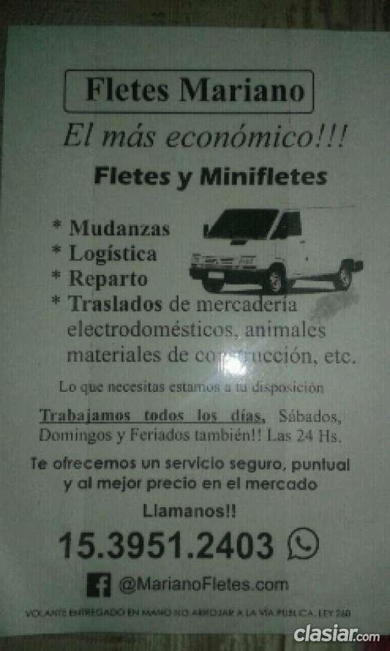 Fletes mariano el más económico !!!!