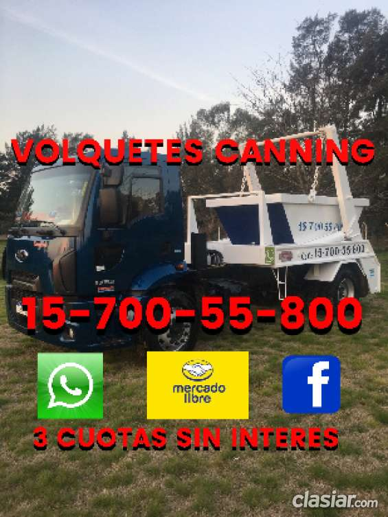 Volquetes canning alquiler