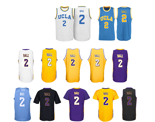 Camiseta los angeles lakers ball amarillo