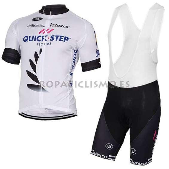 2017 maillot quick step floors tirantes mangas cortas blanco