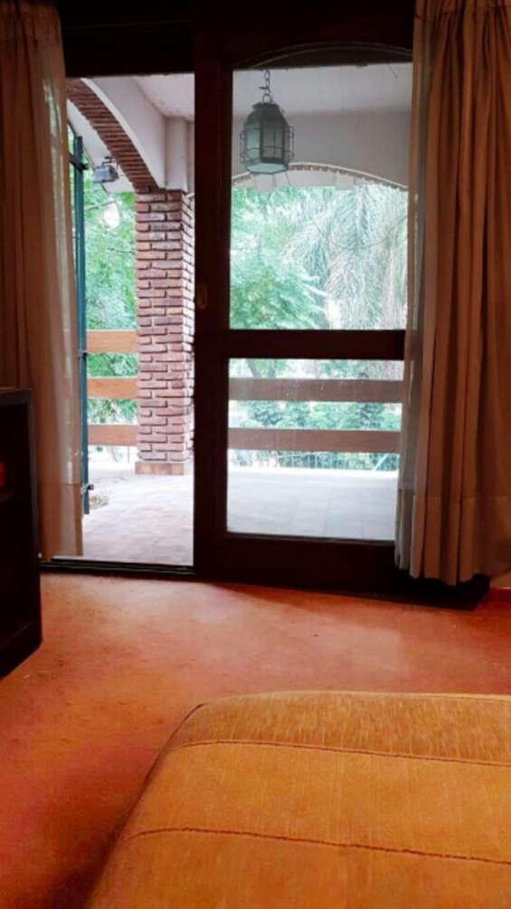 Vista al balcon de la suite