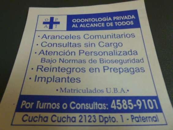 Odontologia en consultorio privado , protesis paternal caba