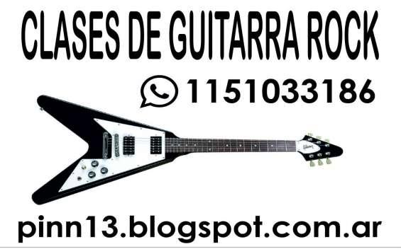 Clases de guitarra rock