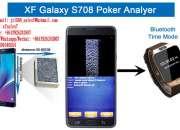 XF Reloj blue-tooth para Samsung Galaxy Note 7 Pk King 708 Poker Analyzer para ver el resu